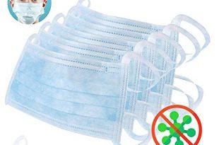 41sGe+XUsUL 310x205 - 10x Atemschutz Maske 3 lagig mit Ohrschlaufen EN 14683 Typ 2 • Einwegmaske gegen Bakterien • Mundschutz Maske Hygienemaske Atemschutzmaske zur Prophylaxe • dreilagige OP Maske GRÜN • von DECADE