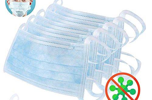 41sGe+XUsUL 500x330 - 10x Atemschutz Maske 3 lagig mit Ohrschlaufen EN 14683 Typ 2 • Einwegmaske gegen Bakterien • Mundschutz Maske Hygienemaske Atemschutzmaske zur Prophylaxe • dreilagige OP Maske GRÜN • von DECADE