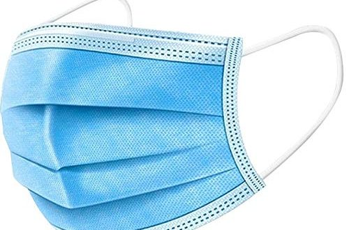 BTTNW AC Medizinisches Masken Einweg-Gesichtsmaske Arzt Masken sterilisiertes Virus 3 Schicht-50pcs (zufällige Farbe) Einweg-Maske (Farbe : Blau, Size : One Size)